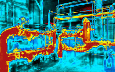 IR thermography on power plant components